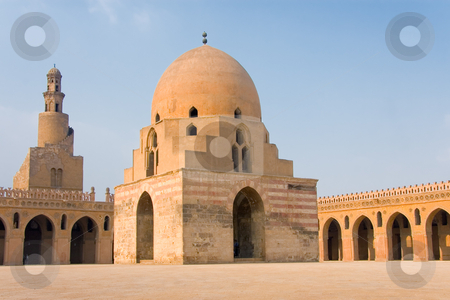 Ibn Tulum mosque, Cairo, Egypt stock photo, Ibn Tulum mosque, Cairo, Egypt by B.F.