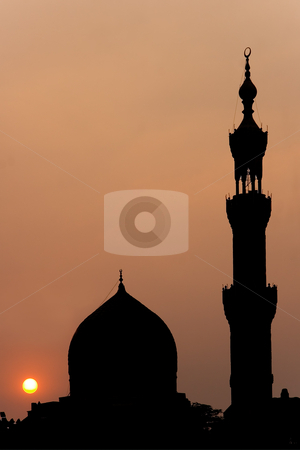 Mosque in the Cairo stock photo, Mosque in the city of Cairo (Egypt) by B.F.