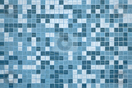 Tile texture background  stock photo, Tile texture background of bathroom or swimming pool tiles on wall by Homydesign