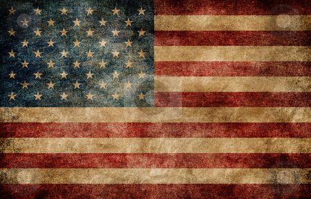 American flag. stock photo, American flag background by Oleksiy Fedorov