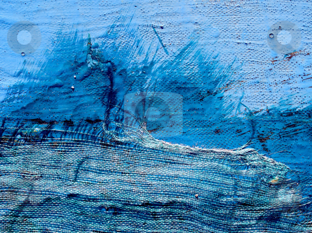 Abstract texture background stock photo, Old damaged blue texture with fibre closeup background. by Oleksiy Fedorov