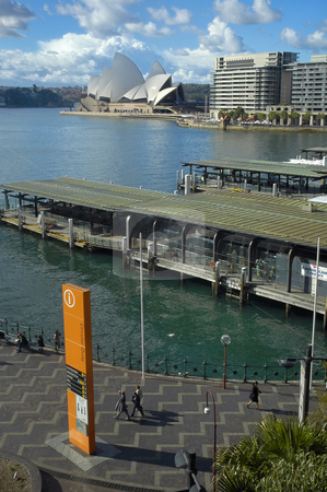 Circular Quay stock photo, Opera House at Circular Quay in Sydney, Australia by Robert Remen