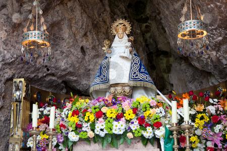 Virgin of Covadonga, Asturias, Spain stock photo, Virgin of Covadonga, Asturias, Spain by B.F.