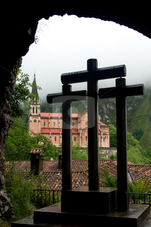 Sanctuary of Covadonga, Asturias, Spain  stock photo, Sanctuary of Covadonga, Asturias, Spain by B.F.