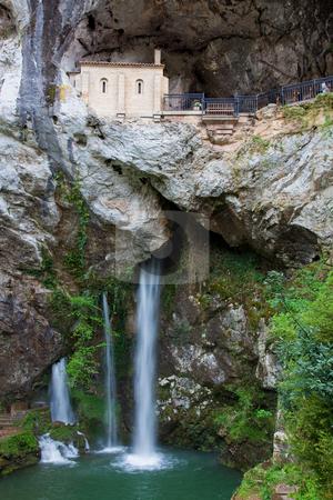 Sanctuary of Covadonga, Asturias, Spain stock photo, Sanctuary of Covadonga, Asturias, Spain by B.F.