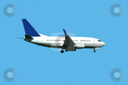 Passenger jet plane landing stock photo, A Passenger jet plane landing by Jim Mills