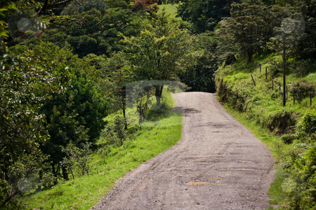 Windy Costa Rica road stock photo, Windy Costa Rica road near Santa Elena by Scott Griessel