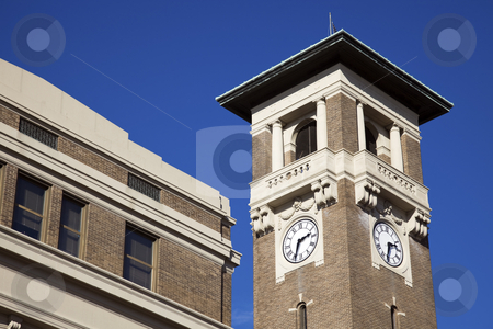 Clock tower in Little Rock stock photo, Clock tower in Little Rock, Arkansas. Union Station. by Henryk Sadura