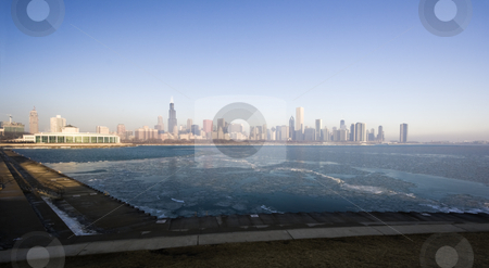 Icy morning in Chicago stock photo, Icy morning in Chicago, IL. by Henryk Sadura