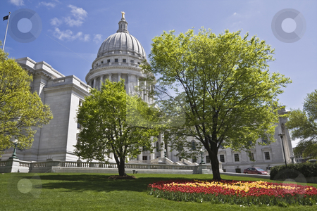 State Capitol of Wisconsin stock photo, State Capitol of Wisconsin in Milwaukee. by Henryk Sadura