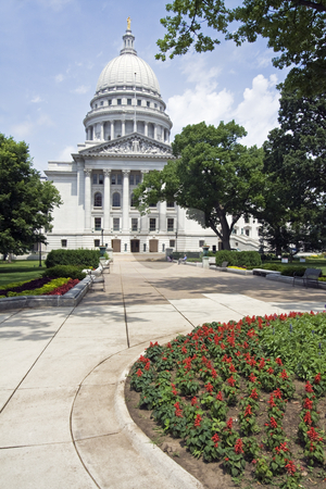 Madison, Wisconsin - State Capitol stock photo, State Capitol of Wisconsin in Madison. by Henryk Sadura
