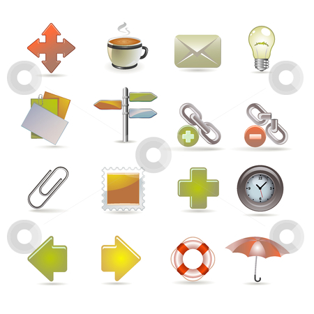Web and internet icons stock vector clipart, Web and internet icons by Ika