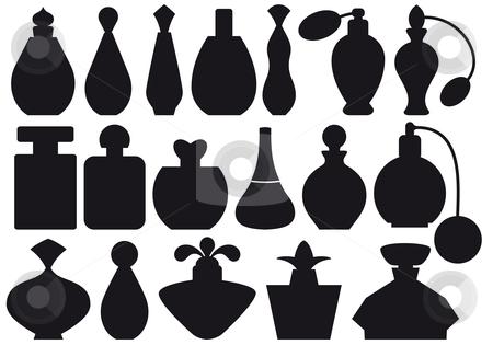 Perfume bottles, vector stock vector clipart, Set of perfume bottle silhouettes, vector by Beata Kraus