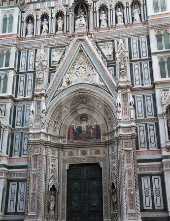 Basilica of Florance stock photo, The entrance of Basilica di Santa Maria del Fiore in Florance, Italy by Kevin Tietz