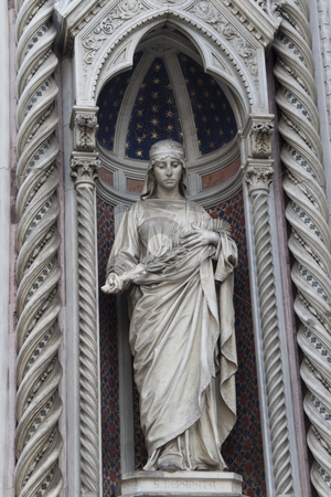Saint Reparata the Martyr stock photo, Saint Reparata the Martyr on the facade of Santa Maria del Fiore by Kevin Tietz