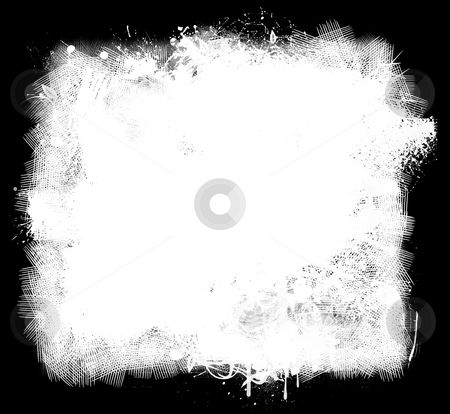 Grunge Paint Background stock photo, Grunge background of white paint smears on black by Leslie Murray