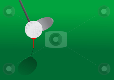 Golf stock vector clipart, Editable vector golf background by GPimages