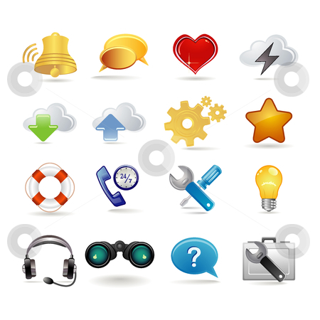 Network stock vector clipart, Network icons by Ika