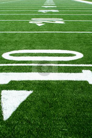 Astro turf football field stock photo, A Astro turf football field by Jim Mills