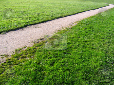 Path Across Village Green in Cheshire Village of Aldford stock photo, Path Across Village Green in Cheshire Village of Aldford by Chris Green