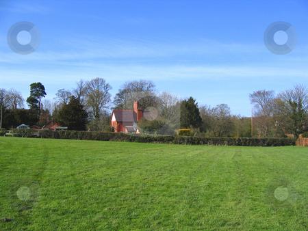 Village Green in Cheshire Village of Aldford stock photo, Village Green and Church in Cheshire Village of Aldford by Chris Green