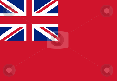 British Merchent Navy Ensign stock photo, British Merchent Navy Ensign for civilian fleet by Martin Crowdy