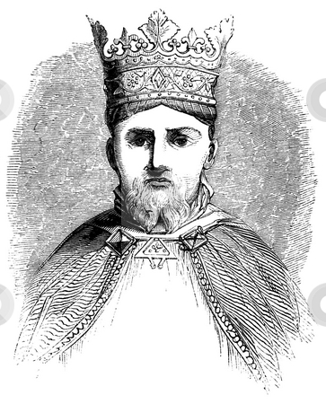 Henry IV of England stock photo, Engraving of Henry IV of England with white background. Sourced from 1845 book by Charles Knight,