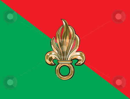 French foreign legion flag stock photo, French foreign legion flag in official colors. by Martin Crowdy