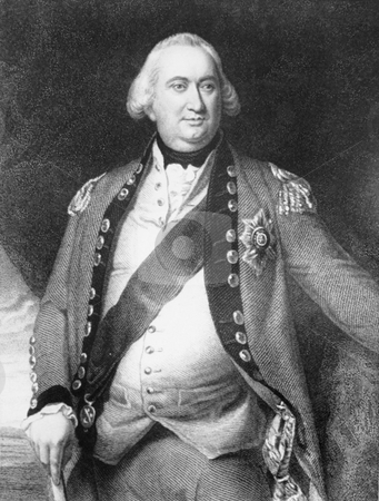 Lord Cornwallis stock photo, Engraving of Bitish General Lord Charles Cornwalls from original artwork by John Singleton Copley, circa 1795. Public domain image by virtue of age. by Martin Crowdy