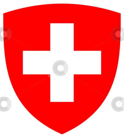 Switzerland Coat or Arms stock photo, Switzerland coat of arms, seal or national emblem, isolated on white background. by Martin Crowdy