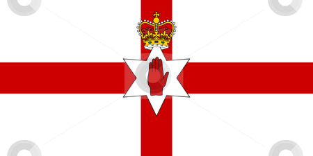 Ulster flag stock photo, Ulster flag, seal or national emblem, isolated on white background. by Martin Crowdy