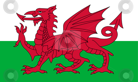Wales Flag stock photo, Wales flag or national emblem, isolated on white background. by Martin Crowdy