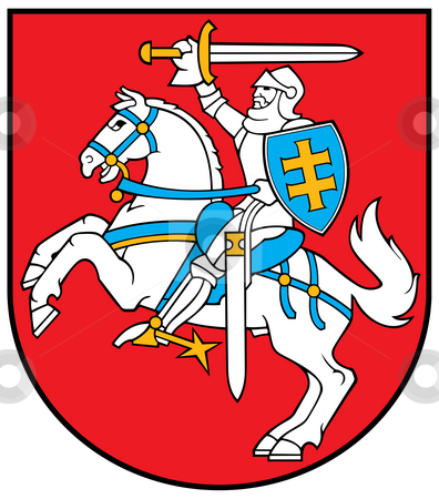 Lithuania Coat of Arms stock photo, Lithuania coat of arms, seal or national emblem, isolated on white background. by Martin Crowdy