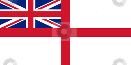 British Royal Navy flag stock photo, British Royal Navy ensign or flag in official colors. by Martin Crowdy