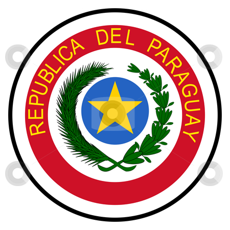 Paraguay Coat of Arms stock photo, Paraguay coat of arms, seal or national emblem, isolated on white background. by Martin Crowdy