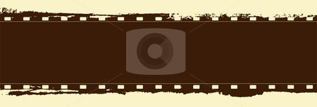 Grunge film frame stock vector clipart, Editable vector grunge film frame by GPimages