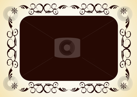 Vector decorative frame stock vector clipart, Editable vector decorative  frame with space for your text or image. by GPimages