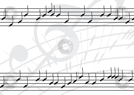 Music background stock vector clipart, Editable vector music background by GPimages