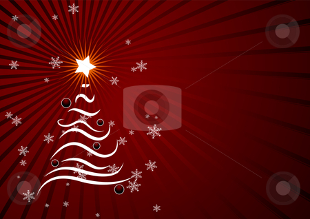Christmas background stock vector clipart, Editable red vector abstract Christmas background with space for yout text by GPimages