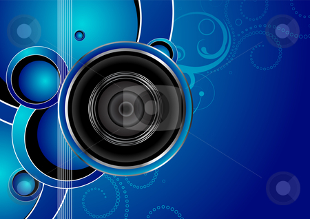 Audio background stock vector clipart, Editable vector audio background with space for your text. More images like this in my portfolio. by GPimages