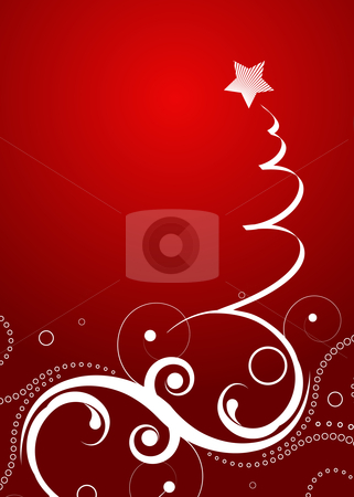 Christmas background stock vector clipart, Editable vector Christmas background with space for your text by GPimages