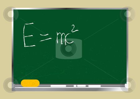 Blackboard stock vector clipart, Editable vector background - School textured wooden blackboard.  Just change the text as you wish. by GPimages