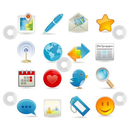 Social media set stock vector clipart, Social media set by Ika