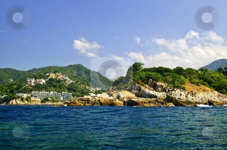 Pacific coast of Mexico stock photo, Villas on tropical Pacific coast of Mexico near Puerto Vallarta by Elena Elisseeva