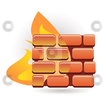 Firewall stock vector clipart, Firewall by Ika
