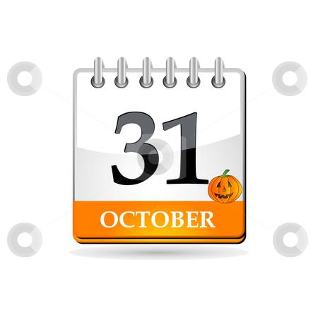 Halloween calendar with pumpkin stock vector clipart, Halloween calendar with pumpkin by Ika