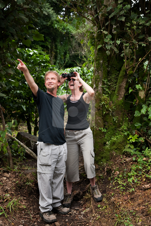 Central American Tourists stock photo, Tourists from the United States and Europe in Costa Rica by Scott Griessel