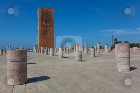 Hassan tower, Rabat, Morocco stock photo, Hassan tower, Rabat, Morocco by B.F.