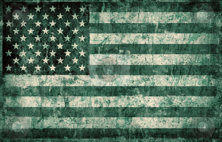 Grunge flag of USA stock photo, Computer designed highly detailed grunge illustration - Flag of USA by GPimages