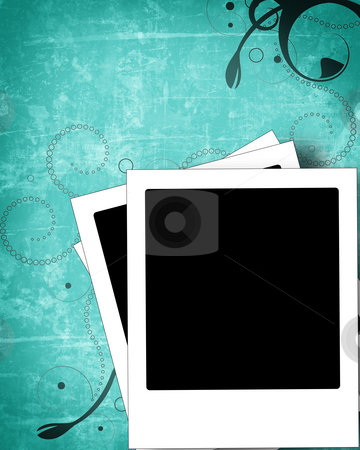 Grunge polaroid background stock photo, Computer designed highly detailed polaroid frame with space for your text or image. more images like this in my portfolio. by GPimages